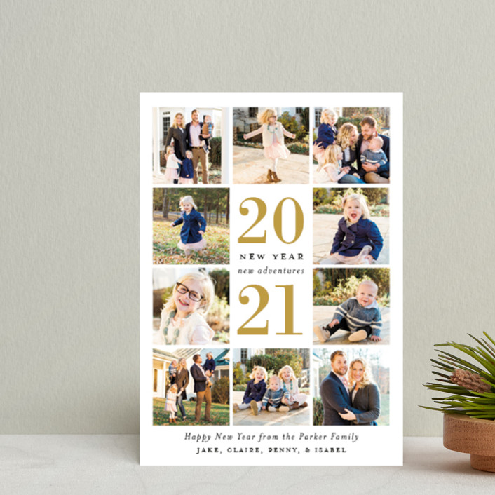 """""""Year of Adventures"""" - Holiday Petite Cards in Golden by Sarah Brown."""