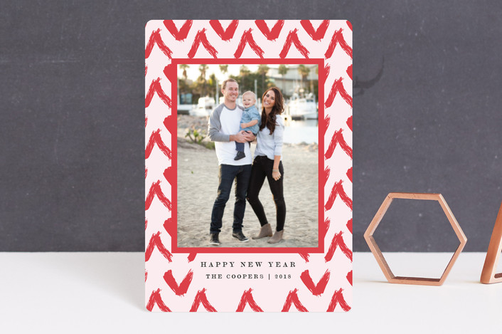 """Good Vibes"" - Bohemian Holiday Petite Cards in Scarlet by Elly."