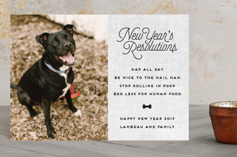 New Year's Resolutions Holiday Petite Cards