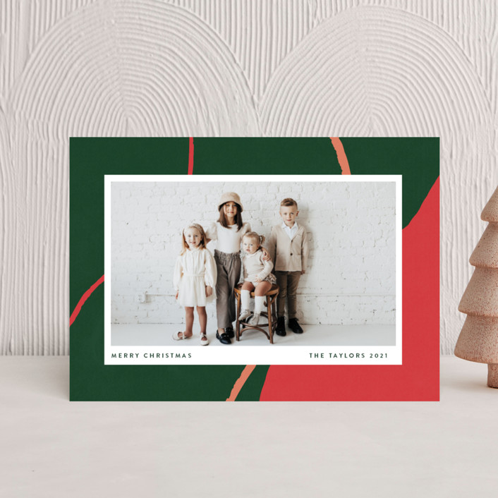 """""""chasm"""" - Modern Holiday Petite Cards in Evergreen by Robin Ott."""