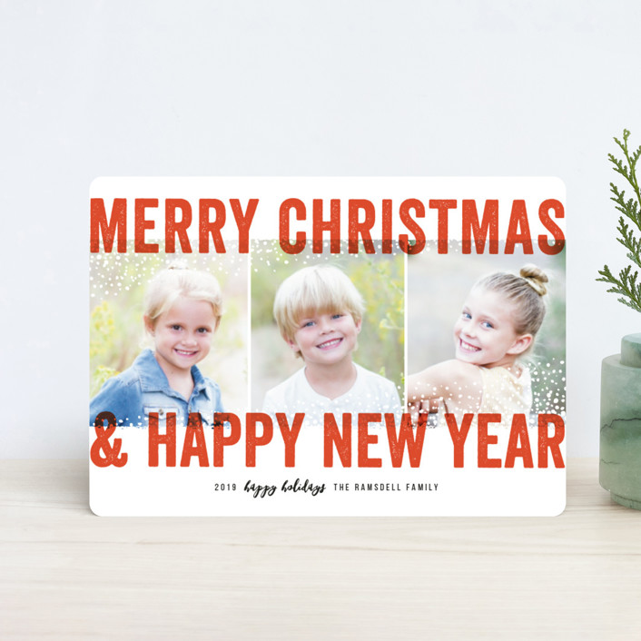 """""""Bold Snow"""" - Holiday Petite Cards in Cherry by Michelle Taylor."""