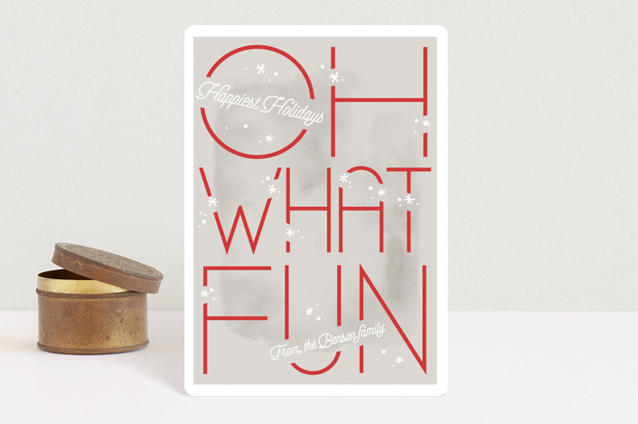 """Oh What Fun"" - Holiday Petite Cards in Festive by Sweta Modi."