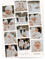This is a white petite holiday card by Robin Ott called proof with standard printing on smooth signature in petite.