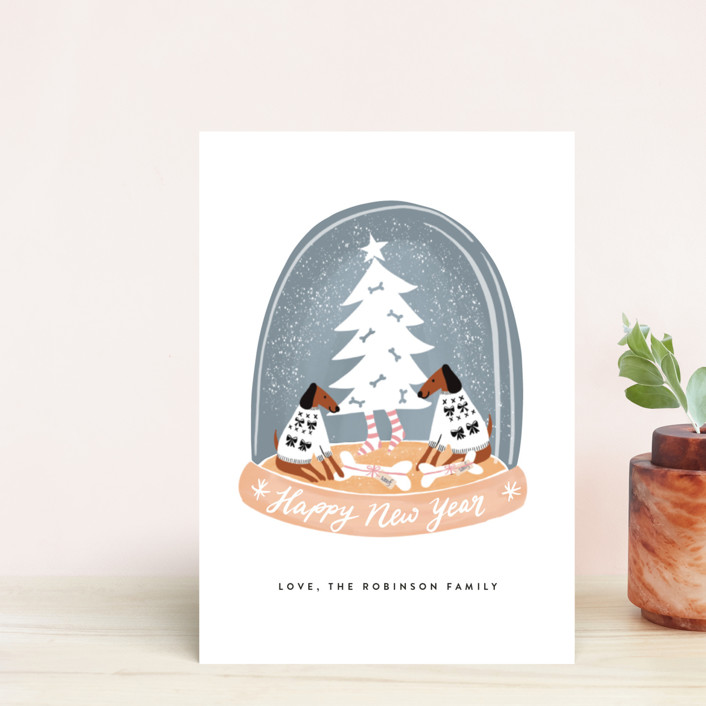 """Doggy Holidays"" - Funny Holiday Petite Cards in Graphite by Jan Shepherd."