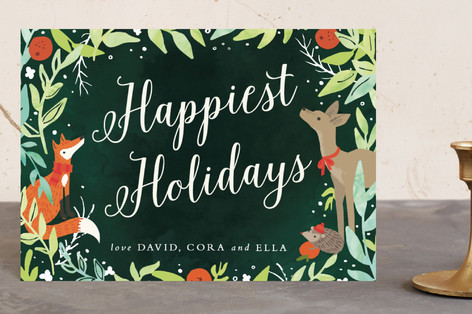 Woodland Foliage Holiday Holiday Petite Cards