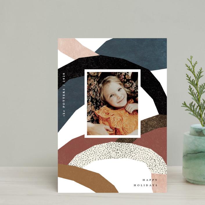 """imaginary hills"" - Modern Holiday Petite Cards in Rainbow Rock by Sumak Studio."