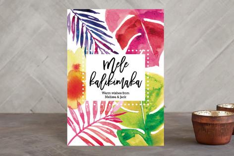 Warm wishes from Hawaii - Mele Kalikimaka Holiday Petite Cards