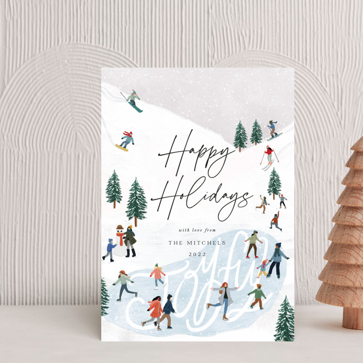 """""""Snow Adventure"""" - Vintage Holiday Petite Cards in Snow by Elly."""