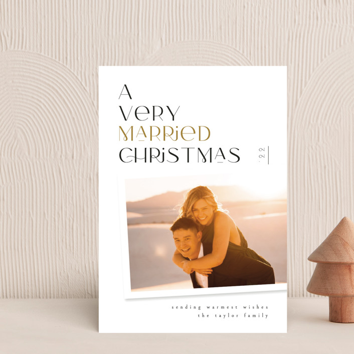 """""""Very Married"""" - Holiday Petite Cards in Champagne by Ana de Sousa."""