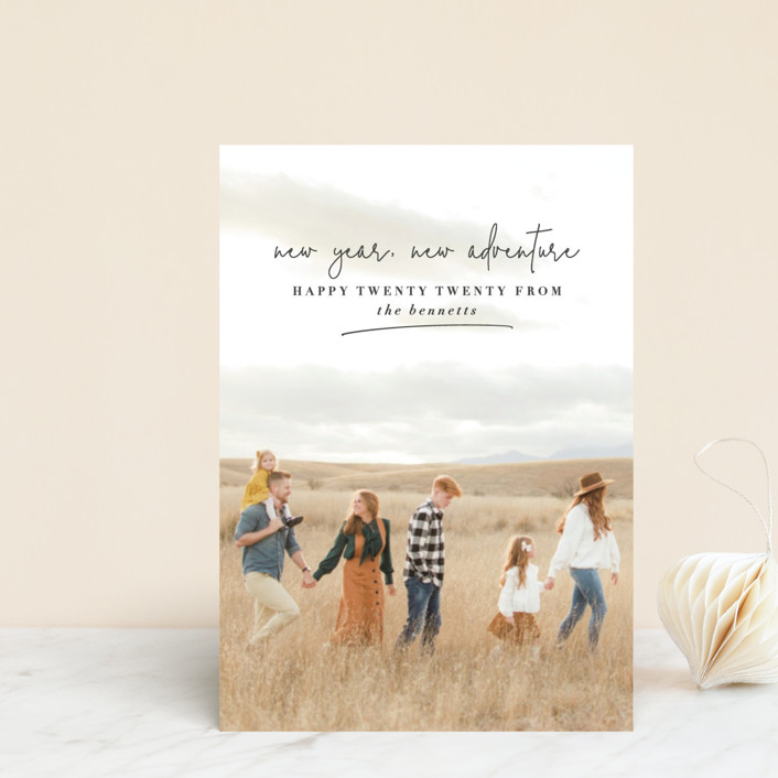 """""""new year, new adventure"""" - Holiday Petite Cards in Charcoal by Stacy Cooke."""
