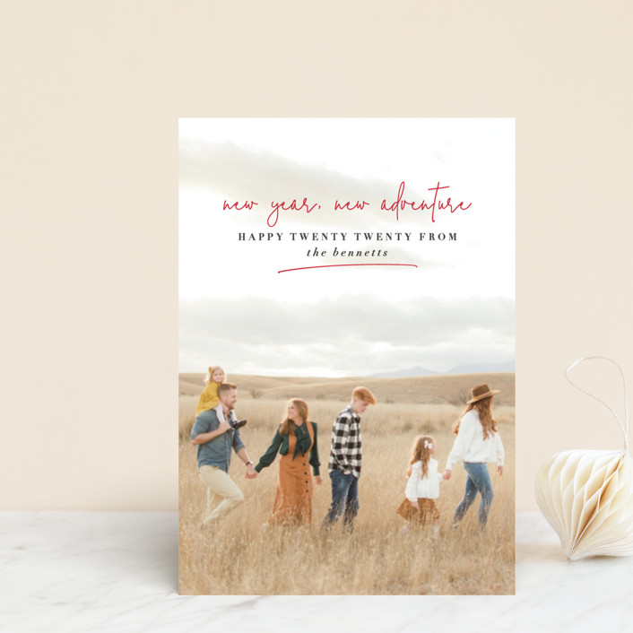 """""""new year, new adventure"""" - Holiday Petite Cards in Cherry by Stacy Cooke."""