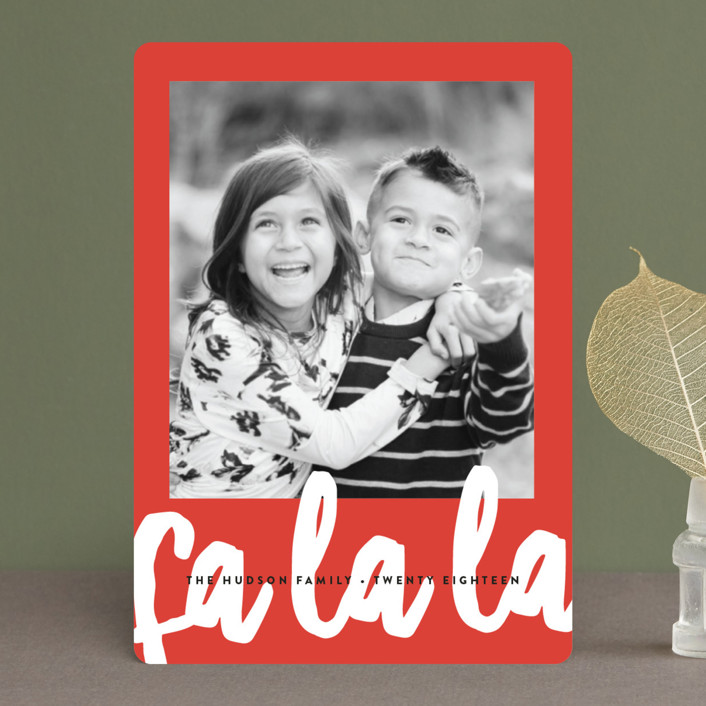 """Fa La La"" - Modern Holiday Petite Cards in Candy Cane by Erica Krystek."