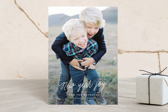 """""""So. Much. Joy."""" - Holiday Petite Cards in Snow by Carolyn MacLaren."""