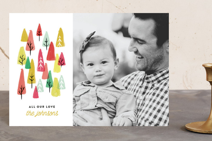 """""""The Tree Lot"""" - Holiday Petite Cards in Bright by Olivia Kanaley."""