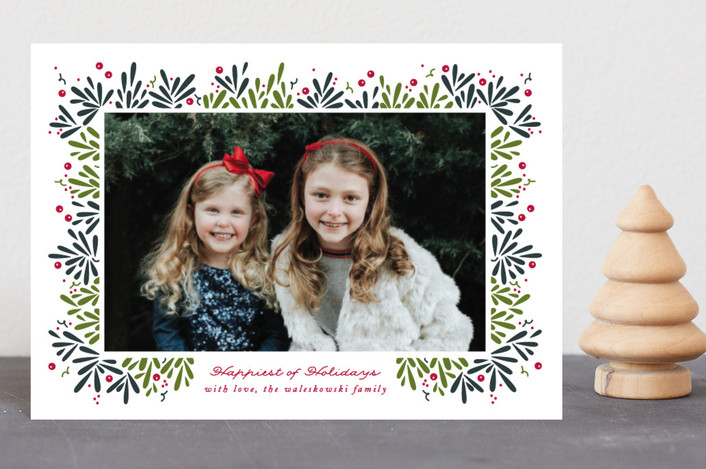 """Berry Branches"" - Holiday Petite Cards in Spruce by Jennifer Postorino."
