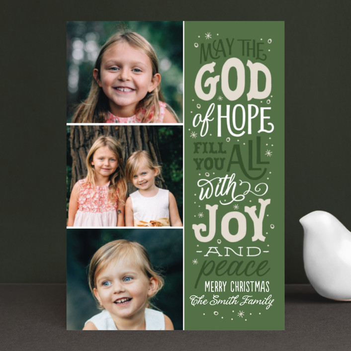 """""""The God of Hope"""" - Holiday Petite Cards in Soft Juniper by Sarah Guse Brown."""