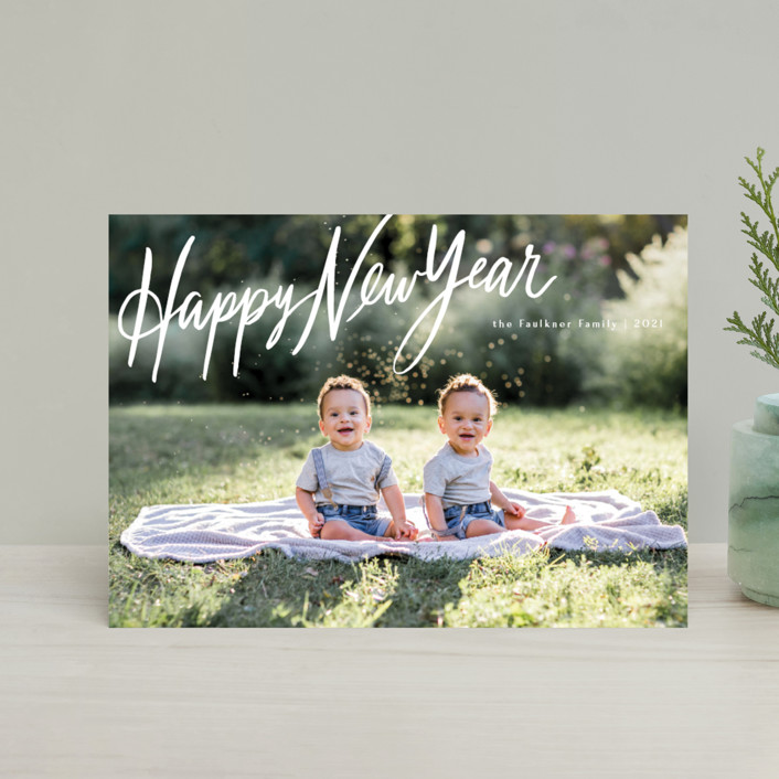 """""""Chirography"""" - Bohemian Holiday Petite Cards in Snowflake by Rebecca Daublin."""