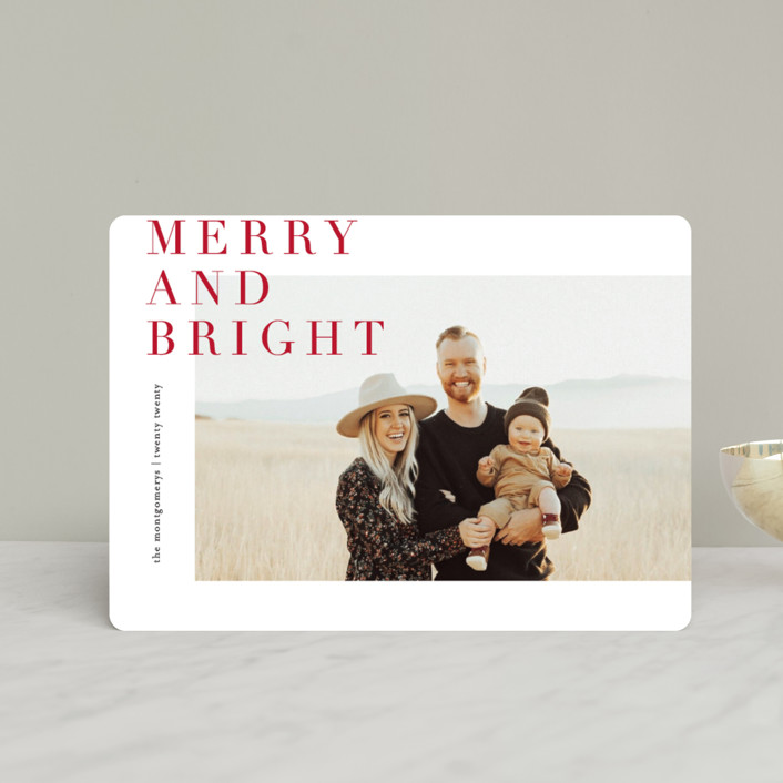 """Editorially"" - Holiday Petite Cards in Berry by Julie Murray."