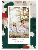 This is a green petite holiday card by Alaina Cherup called Blithely with standard printing on smooth signature in petite.