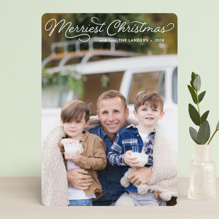 """Merriest"" - Holiday Petite Cards in Snow by Chasity Smith."