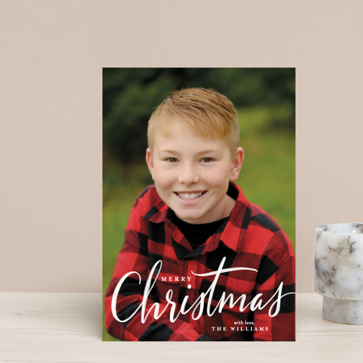 """""""chalk script Christmas"""" - Holiday Petite Cards in Chalk by Rebecca Durflinger."""