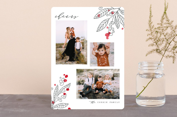 """Flora"" - Holiday Petite Cards in Persimmon by Pistols."