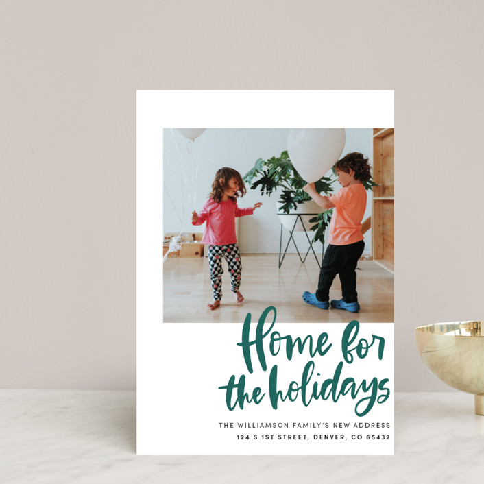 """""""Home Sweet Holiday Home"""" - Holiday Petite Cards in Leaf by Vine and Thistle."""
