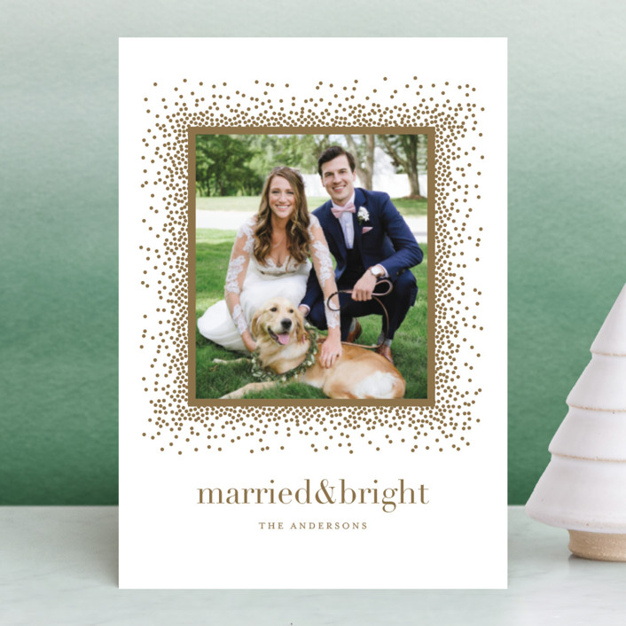 """""""Married & Bright"""" - Holiday Petite Cards in Snow by Jennifer Postorino."""