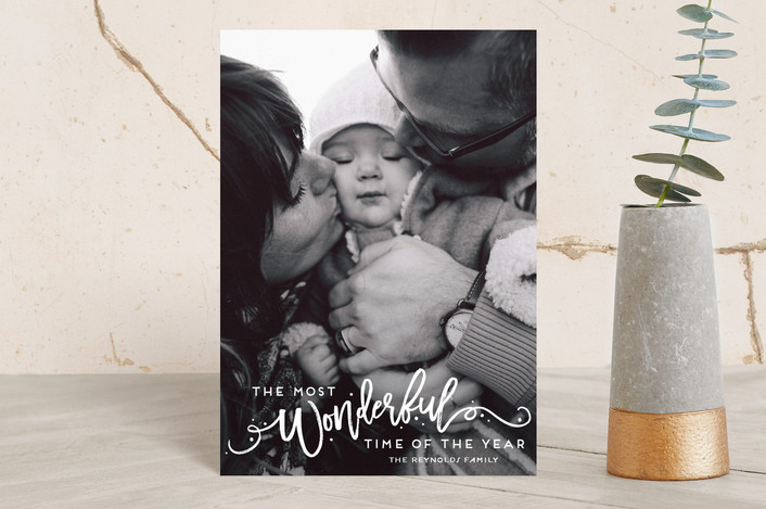 """""""The Most Wonderful"""" - Holiday Petite Cards in Snowflake by GeekInk Design."""