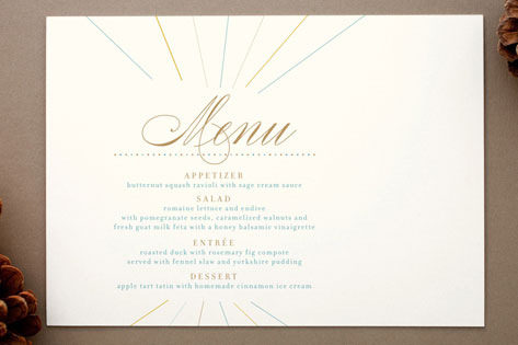 Float + Make Merry Holiday Menu Cards