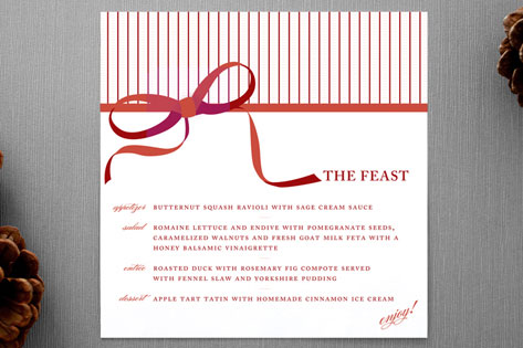 Feast Holiday Menu Cards