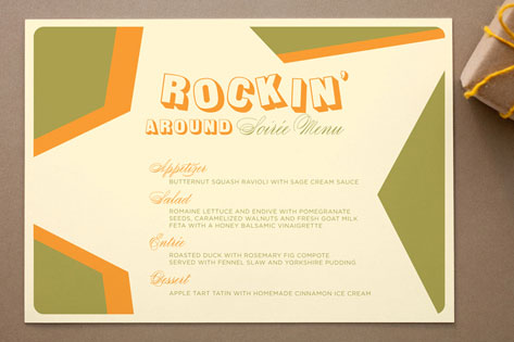 Rockin' Holiday Menu Cards