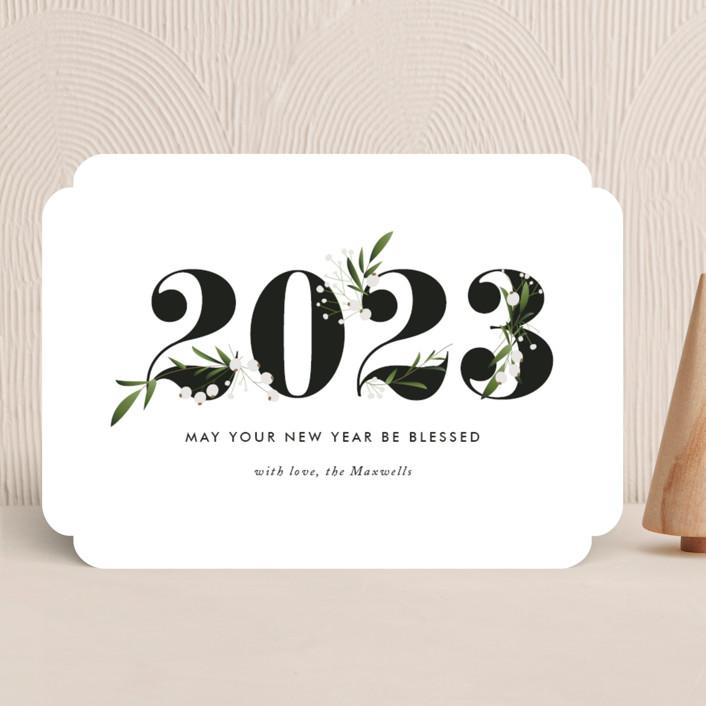 """Adorned Year"" - Holiday Cards in Tuxedo by Jennifer Postorino."