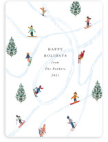 This is a white non photo holiday card by Elly called Snow Fun with standard printing on signature in standard.