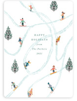 This is a green non photo holiday card by Elly called Snow Fun with standard printing on signature in standard.