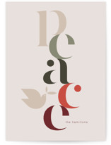 This is a beige non photo holiday card by amanda lawrence called Peace Dove with standard printing on signature in standard.