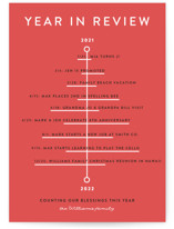 This is a red non photo holiday card by Becca Thongkham called Blessing Tree with standard printing on signature in standard.
