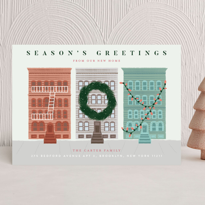 """""""My City"""" - Holiday Cards in Snowflake by Jennifer Lew."""