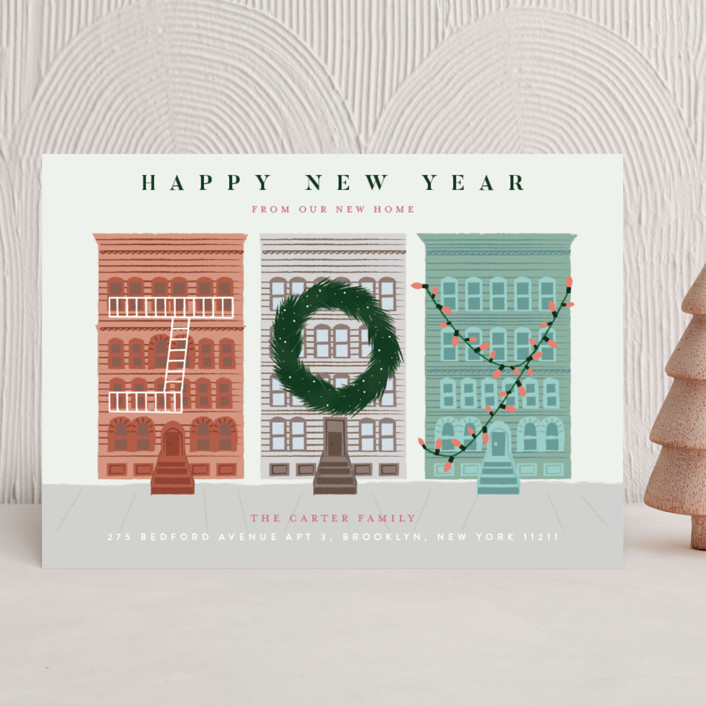 """My City"" - Holiday Cards in Snowflake by Jennifer Lew."