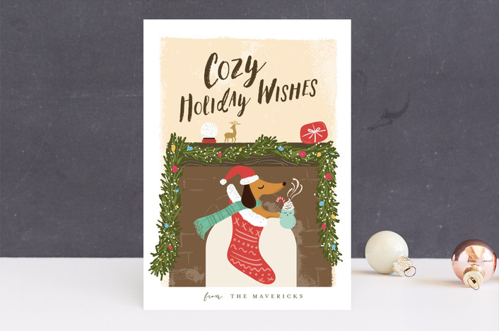"""strudel"" - Holiday Cards in Snow by chocomocacino."