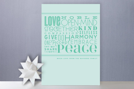 The Peaceful Type Holiday Cards