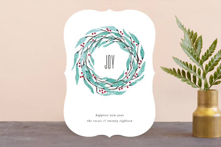 """""""Circle of Joy"""" - Holiday Cards in Eucalyptus by Kate Ross."""