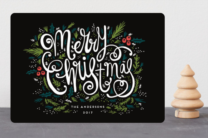 """Very Merry"" - Holiday Cards in Midnight by iamtanya."