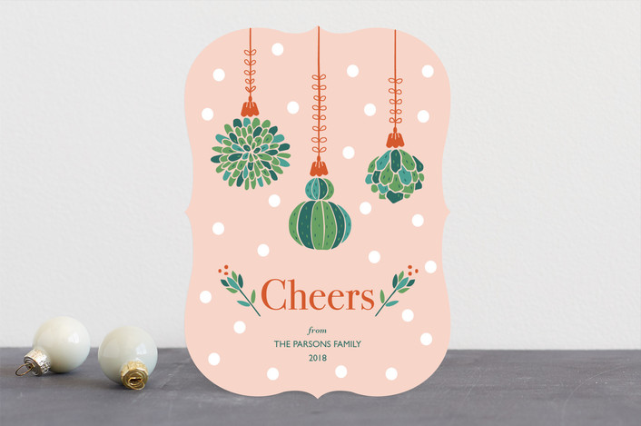"""Succulent Christmas"" - Vintage Holiday Cards in Gumdrop by Chi Hey Lee."