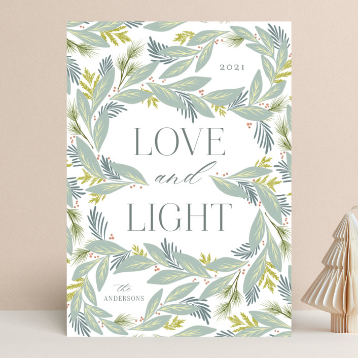 """""""Winding Foliage"""" - Holiday Cards in Classic by Calluna Fine Paper."""