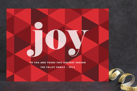 Joy Geometric Holiday Cards