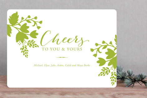 Cheerful Floral Holiday Cards