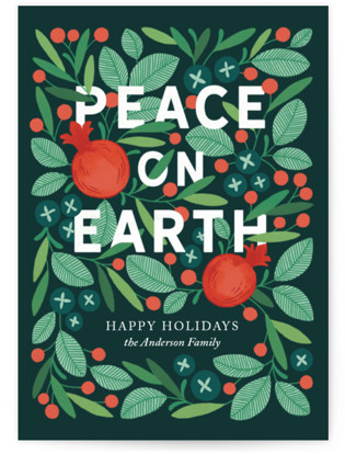 Wreathed in Peace Holiday Non-Photo Cards