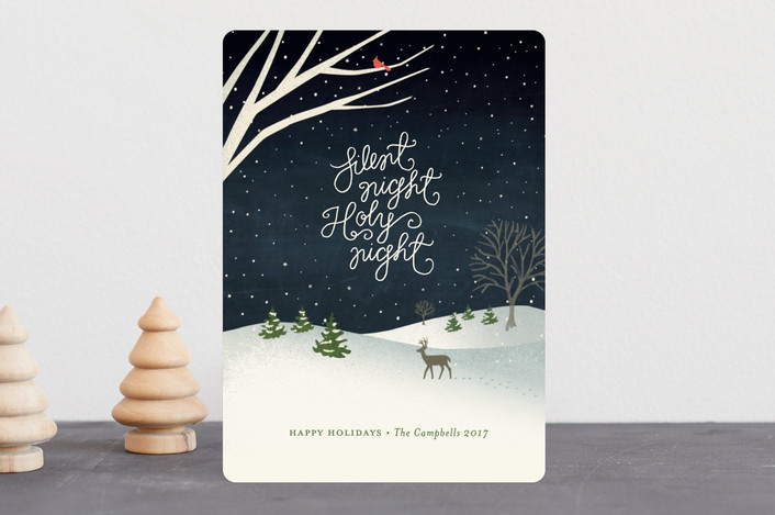 """""""Wintry night"""" - Holiday Cards in Twilight by Jennifer Wick."""