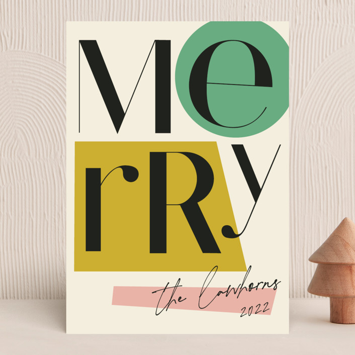 """""""All That Jazz"""" - Modern Holiday Cards in Mint by Morgan Kendall."""